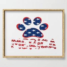 AMERICAN DOG PAW PRINT Serving Tray