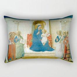 """Fra Angelico (Guido di Pietro) """"Sacred Conversation"""" Rectangular Pillow"""