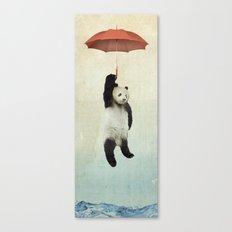 Pandachute Canvas Print