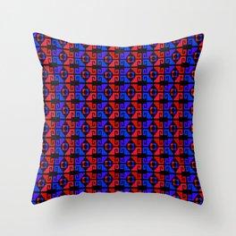Mexican Aztec Geometric Pattern Dark Throw Pillow