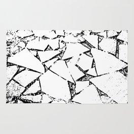 Ice Blocks black & white Rug