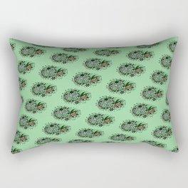 Zebra Illustration Pattern Rectangular Pillow