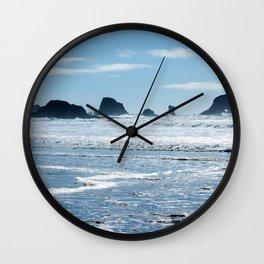 Oregon Coast Beach Photography Print Wall Clock