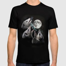 3 opossum moon T-shirt