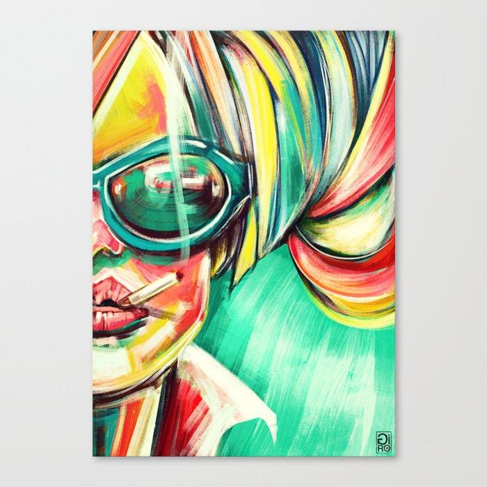 """Glowing 6"" Canvas Print"