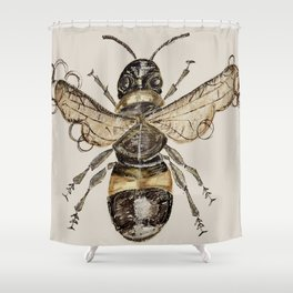 The Elizabethan Bee Shower Curtain