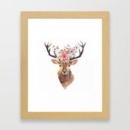 Winter Deer 3 Framed Art Print