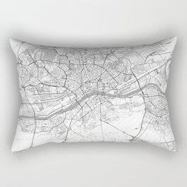 Frankfurt Map Line Rectangular Pillow
