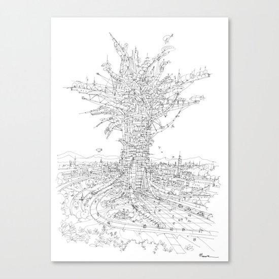 L' Albero Antropizzato Canvas Print