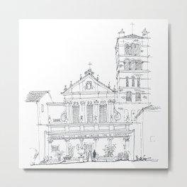 Basilica di Santa Cecilia in Trastevere Metal Print