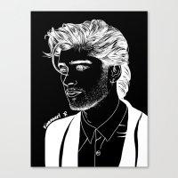 zayn Canvas Prints featuring Zayn by andjustlove