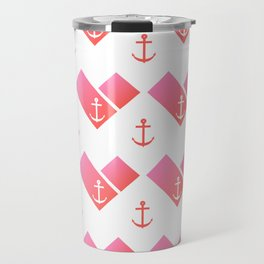 Florida Scarf Anchor Pattern Travel Mug