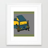 van Framed Art Prints featuring Van by AndaLouz
