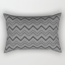 Grey Chevron Tribal Aztec Art  Rectangular Pillow