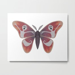 free spirit ghost (made up moth) Metal Print