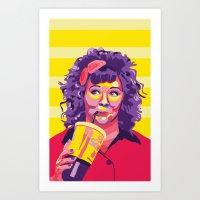 melissa smith Art Prints featuring Melissa McCarthy by Rudi Rodebush
