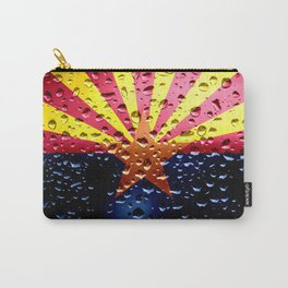Flag of Arizona - Raindrops Carry-All Pouch