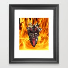 Krampuss Kitty Framed Art Print
