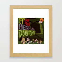 """It Came From Beneath Doritodan"" - Dungeons & Doritos Framed Art Print"