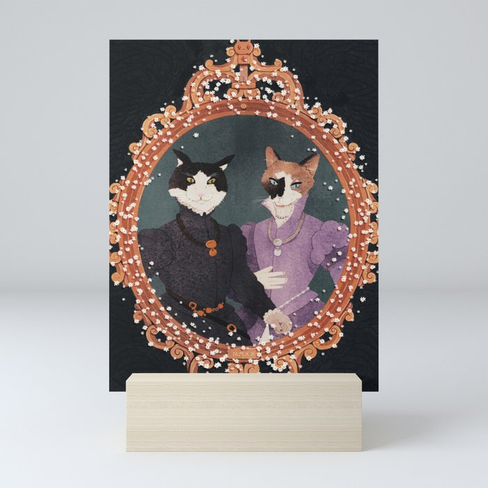 royal cats Mini Art Print