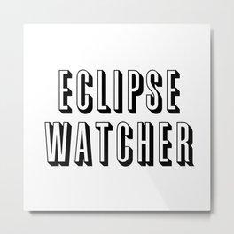 Eclipse Watcher Metal Print