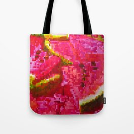 Watermelon on pixel (watercolor) Tote Bag