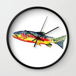 The Golden Trout Wall Clock