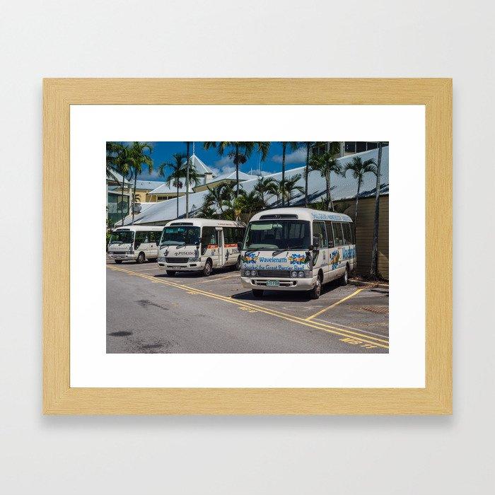 Tourist Shuttles Framed Art Print