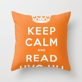 Keep calm and read HVG.hu Throw Pillow