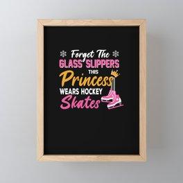 Ice Hockey Gift For Ice Hockey Girl Framed Mini Art Print