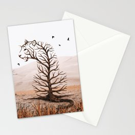 Tiger Tree Illusion Stationery Cards