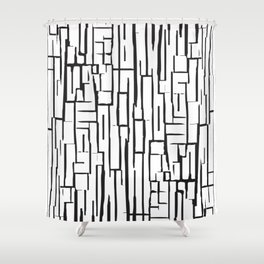 Synapse Line Pattern Shower Curtain