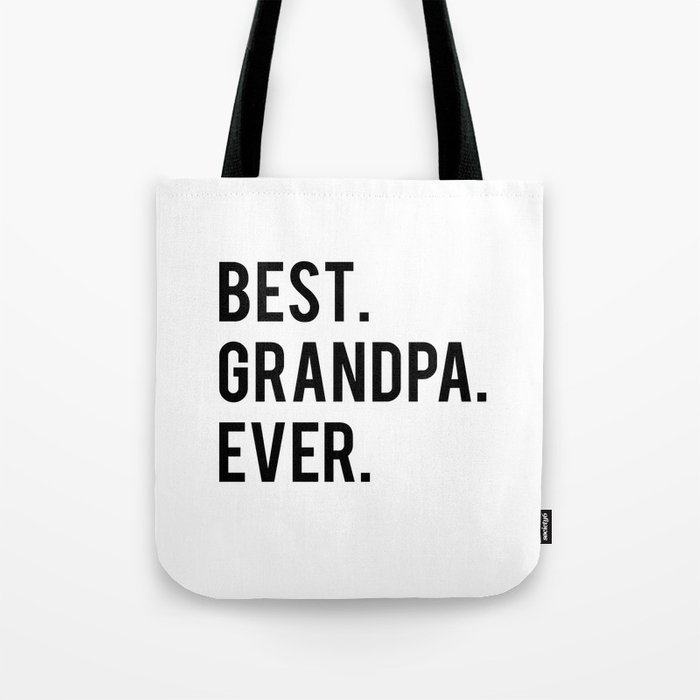 GRANDPA GIFT Typography Print Birthday Gift Best Grandpa Inspirational Quote Wall Art PRINTABLE Tote Bag By Nathanmoore209