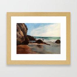Laguna Beach Hideout Framed Art Print