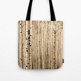Aspen Tree Maze / Sepia Tote Bag