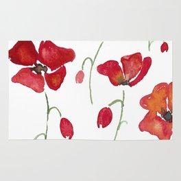 Swedish Poppies Rug