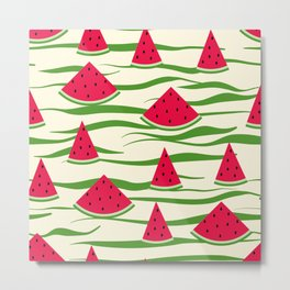 Juicy slices of watermelon Metal Print