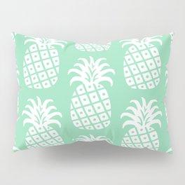 Retro Mid Century Modern Pineapple Pattern Mint Green 2 Pillow Sham