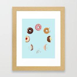 Donut Phases Framed Art Print
