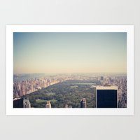 central park Art Prints featuring Central Park by Thomas Richter