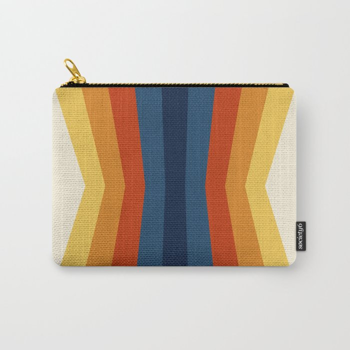 Bright 70's Retro Stripes Reflection Carry-All Pouch