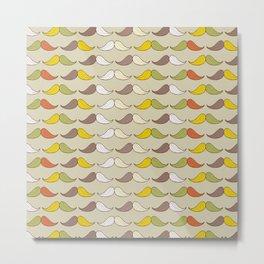 Colorful Mustache Art Pattern Metal Print