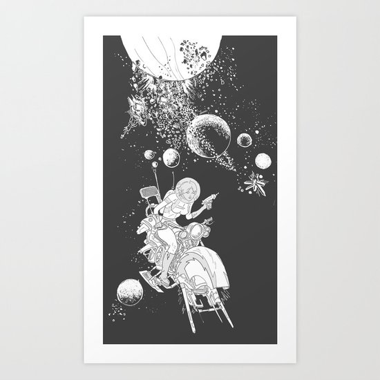 rocket lass Art Print