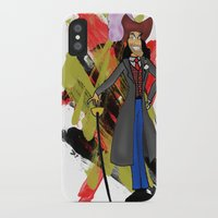 captain hook iPhone & iPod Cases featuring Disneyland Captain Hook - Evil Relations by Joey Noble