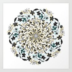 Floral Mandala Art Print