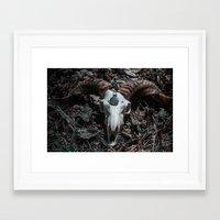 goat Framed Art Prints featuring Goat by Sarah Van Neyghem