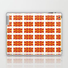 Flag of Macedonia 2 - Macedonian,skopje,Bitola,Kumanovo,Prilep,Balkan,Alexander the great,Karagoz Laptop & iPad Skin