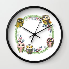 Owl-Green (You Are Owlsome) Wall Clock