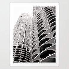 Chicago's Marina City Art Print