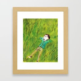 On the grass Framed Art Print